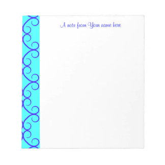 Colores de lujo del azul del colorblock blocs de papel