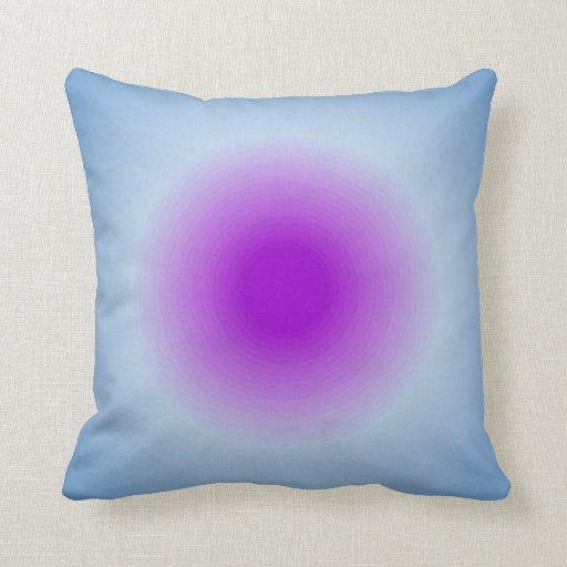 Colores de malva y azules almohadas