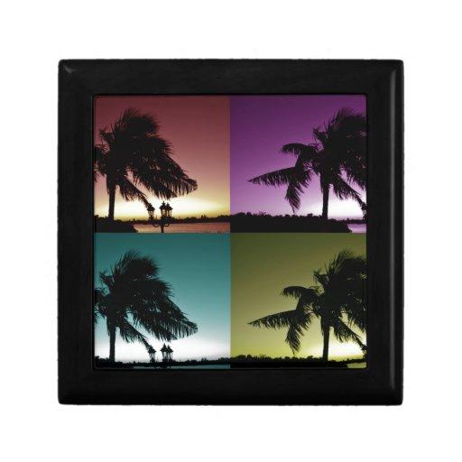 Colores de Miami Joyero Cuadrado Pequeño