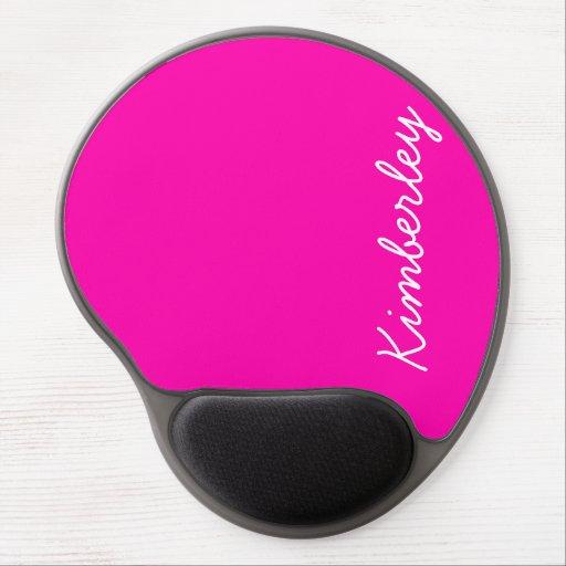 Colores de moda de la moda del monograma de neón r alfombrilla de ratón con gel