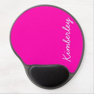 Colores de moda de la moda del monograma de neón r alfombrilla de raton con gel