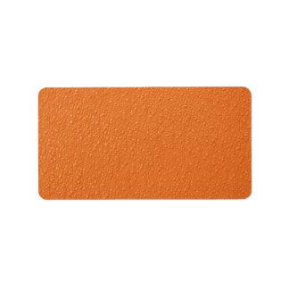 Colores de moda de neón anaranjados brillantes etiquetas de dirección