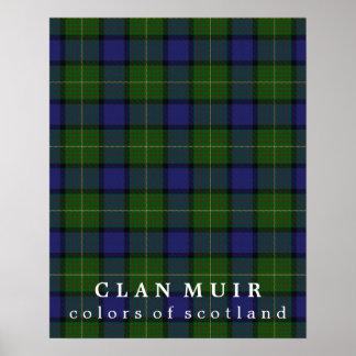 Colores de Muir del clan del tartán de Escocia Póster