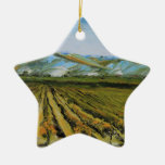 Colores de Napa Valley, país vinícola California Adorno Navideño De Cerámica En Forma De Estrella