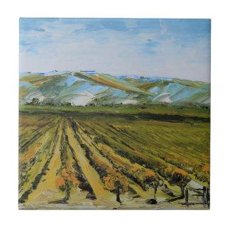 Colores de Napa Valley, país vinícola California Azulejo Cuadrado Pequeño