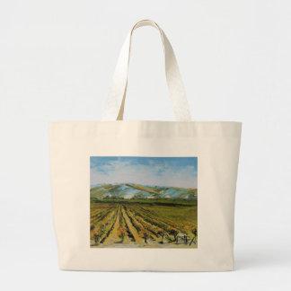 Colores de Napa Valley, país vinícola California Bolsa Tela Grande
