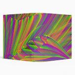 Colores de neón con la carpeta del árbol 3-Ring