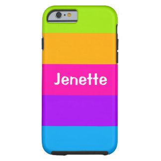 Colores de neón fluorescentes conocidos funda de iPhone 6 tough