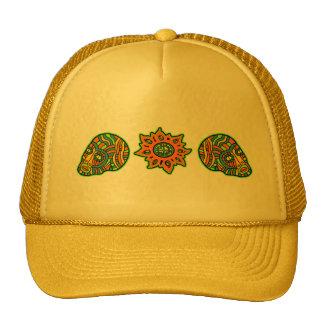 Colores de octubre de los cráneos de los hombres d gorras