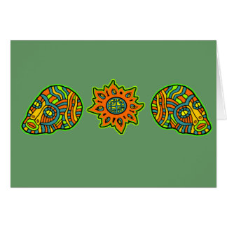 Colores de octubre de los cráneos de los hombres d tarjeta de felicitación