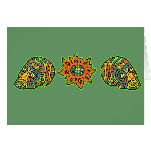 Colores de octubre de los cráneos de los hombres d felicitacion