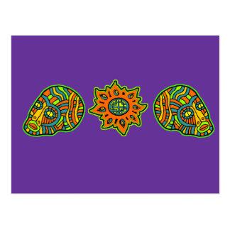 Colores de octubre de los cráneos de los hombres postales