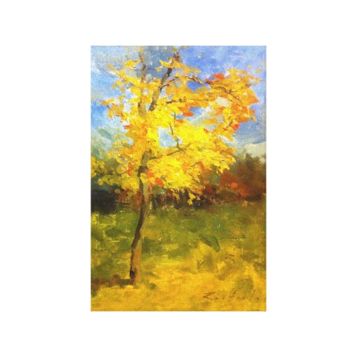 Colores de octubre impresión en lienzo estirada