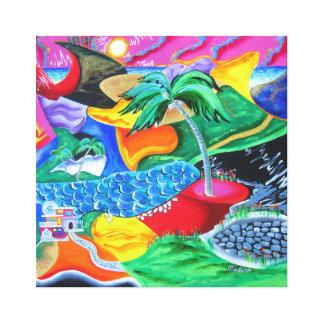 Colores de Puerto Rico - el Caribe Lona Envuelta Para Galerias
