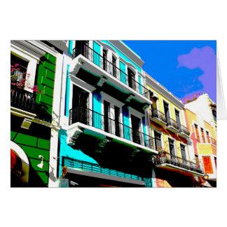 Colores de Puerto Rico Tarjeta Pequeña