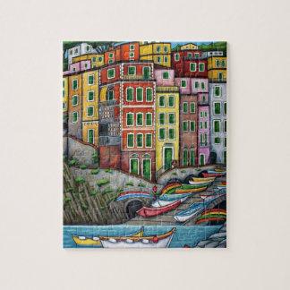 Colores de Riomaggiore, rompecabezas de Cinque Ter
