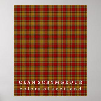 Colores de Scrymgeour del clan del tartán de Póster
