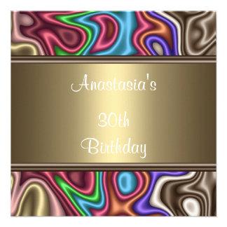 Colores de seda de la fiesta de cumpleaños de la i
