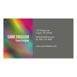 Colores de semitono tarjetas de visita
