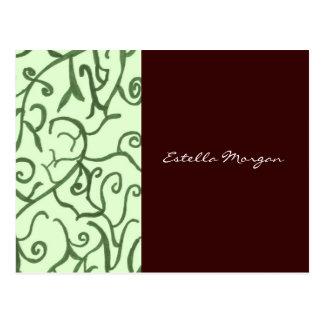 Colores de tierra tarjetas postales