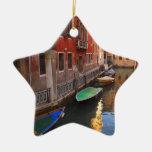 Colores de Venecia, Italia Ornamento Para Arbol De Navidad