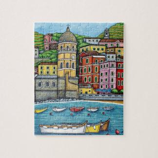 Colores de Vernazza, rompecabezas de Cinque Terre