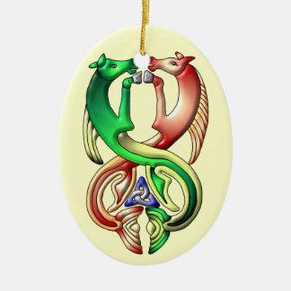 Colores de Waterhorse Adorno Navideño Ovalado De Cerámica