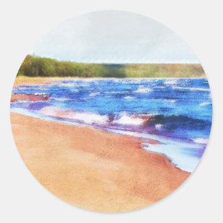 Colores del agua pegatina redonda