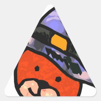Colores del alt de la bruja del oso calcomanía de trianguladas