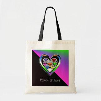 Colores del amor bolsa tela barata