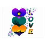 Colores del amor tarjeta postal