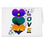 Colores del amor tarjeton