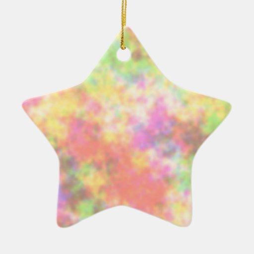 Colores del arco iris. Bonito, nubes coloridas Adorno De Cerámica En Forma De Estrella