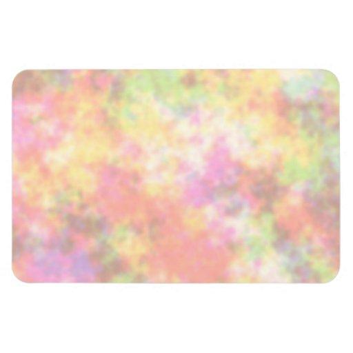 Colores del arco iris. Bonito, nubes coloridas Imanes Rectangulares