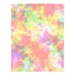 Colores del arco iris. Bonito, nubes coloridas Membrete