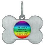 Colores del arco iris: Bow Wow Placas De Nombre De Mascota