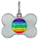 Colores del arco iris: Bow Wow Placa Mascota