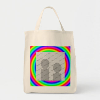 Colores del arco iris. Brillante y colorido. Foto  Bolsas De Mano