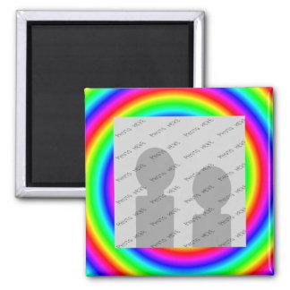 Colores del arco iris. Brillante y colorido. Foto  Imanes De Nevera