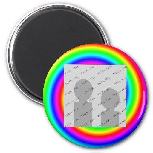 Colores del arco iris. Brillante y colorido. Foto  Imán Para Frigorífico