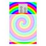 Colores del arco iris. Brillante y colorido. Foto  Papeleria