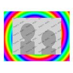 Colores del arco iris. Brillante y colorido. Foto Postal