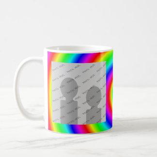 Colores del arco iris. Brillante y colorido. Foto  Taza De Café