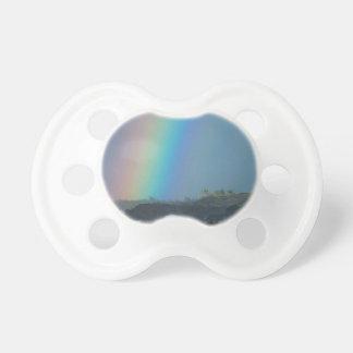 Colores del arco iris chupete de bebe