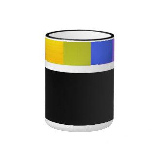 Colores del arco iris de GLBTQ Taza De Dos Colores