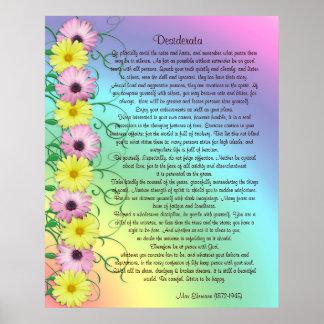 Colores del arco iris de la prosa de los desiderát póster