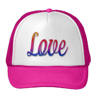 Colores del arco iris del amor gorro