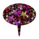 Colores del arco iris del fondo de las estrellas figura para tarta