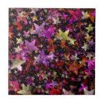 Colores del arco iris del fondo de las estrellas azulejos ceramicos