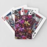 Colores del arco iris del fondo de las estrellas baraja de cartas